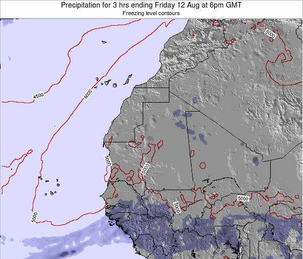 Liberia Precipitation for 3 hrs ending Tuesday 25 Jun at 12pm GMT