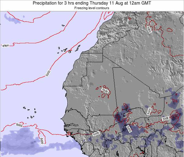 Sierra Leone Precipitation for 3 hrs ending Wednesday 23 Apr at 6am GMT
