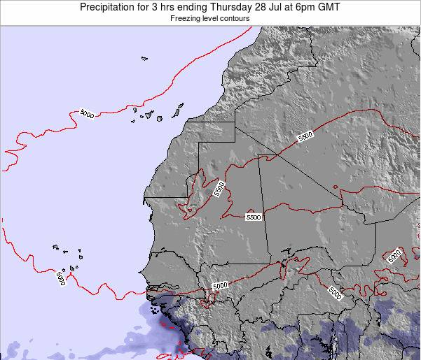 Sierra Leone Precipitation for 3 hrs ending Monday 17 Mar at 12am GMT