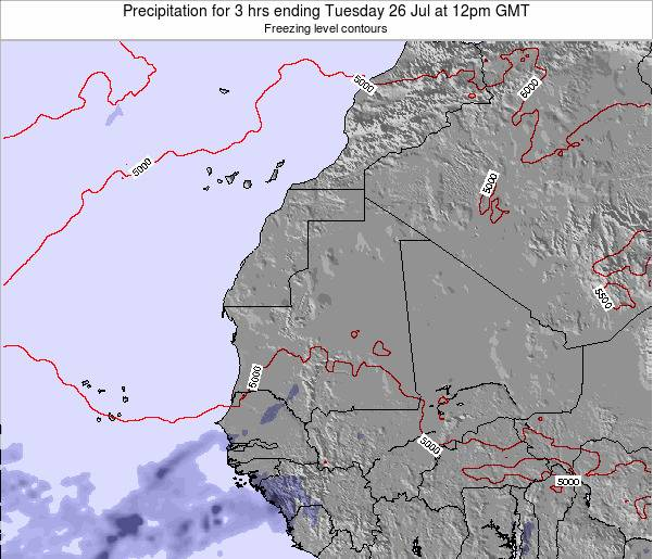 Sierra Leone Precipitation for 3 hrs ending Monday 16 Dec at 12pm GMT