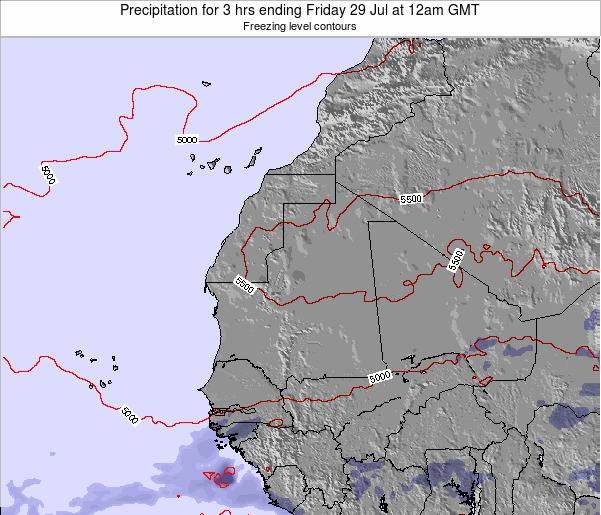 Sierra Leone Precipitation for 3 hrs ending Tuesday 29 Apr at 12am GMT