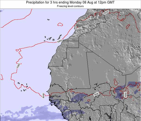 Sierra Leone Precipitation for 3 hrs ending Monday 12 Dec at 12am GMT