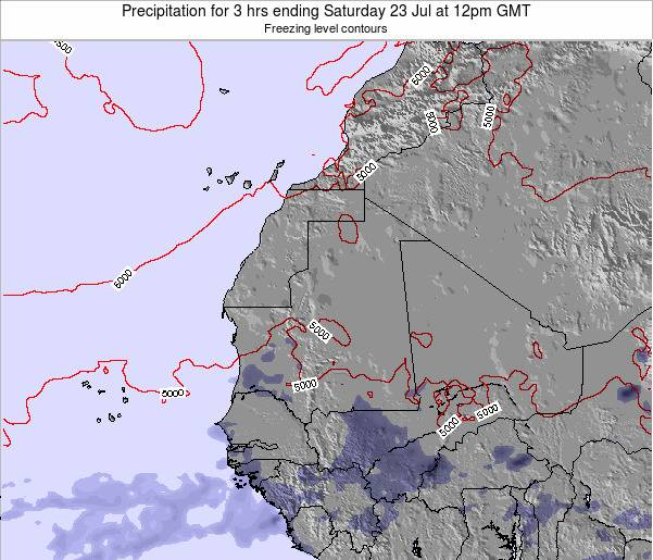 Sierra Leone Precipitation for 3 hrs ending Wednesday 06 Aug at 12pm GMT