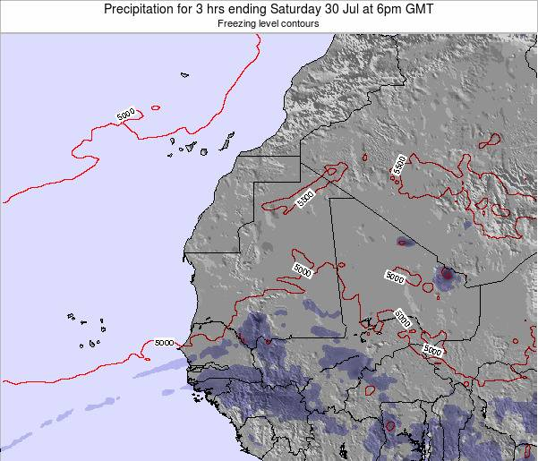 Sierra Leone Precipitation for 3 hrs ending Friday 31 May at 12pm GMT