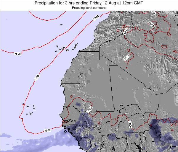 Sierra Leone Precipitation for 3 hrs ending Monday 24 Jun at 6pm GMT map
