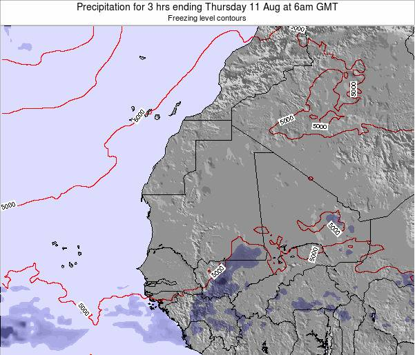 Sierra Leone Precipitation for 3 hrs ending Tuesday 29 Apr at 12pm GMT