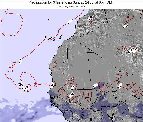 Sierra Leone Precipitation for 3 hrs ending Wednesday 23 Apr at 6pm GMT