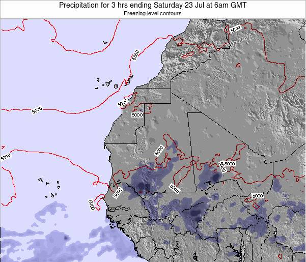 Sierra Leone Precipitation for 3 hrs ending Saturday 15 Mar at 6am GMT