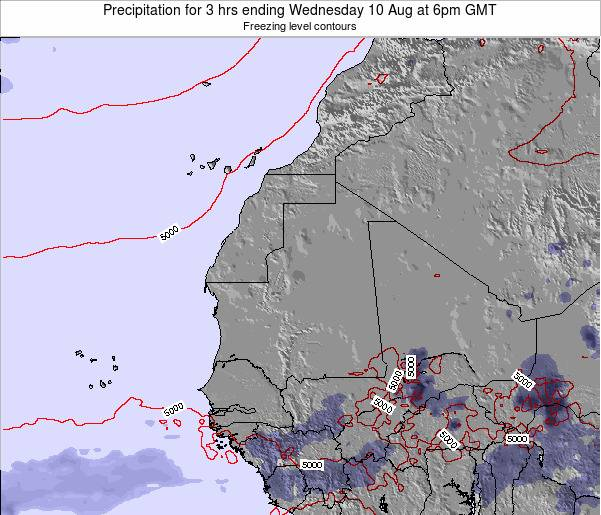 Sierra Leone Precipitation for 3 hrs ending Saturday 14 Dec at 6am GMT