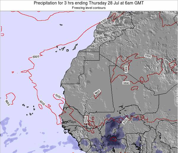 Sierra Leone Precipitation for 3 hrs ending Sunday 03 May at 12am GMT
