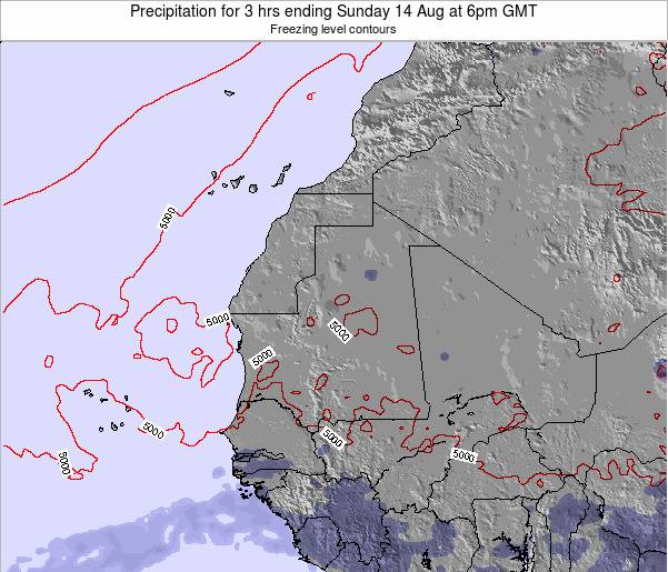 Sierra Leone Precipitation for 3 hrs ending Thursday 06 Nov at 12am GMT