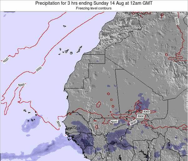 Sierra Leone Precipitation for 3 hrs ending Tuesday 25 Jun at 6pm GMT