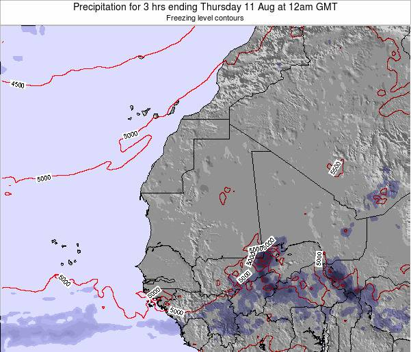 Sierra Leone Precipitation for 3 hrs ending Thursday 01 May at 6am GMT