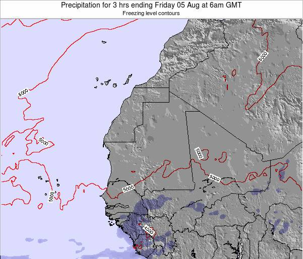 Sierra Leone Precipitation for 3 hrs ending Tuesday 18 Mar at 12pm GMT