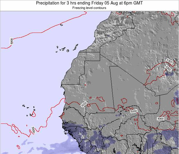 Sierra Leone Precipitation for 3 hrs ending Thursday 24 Apr at 12pm GMT
