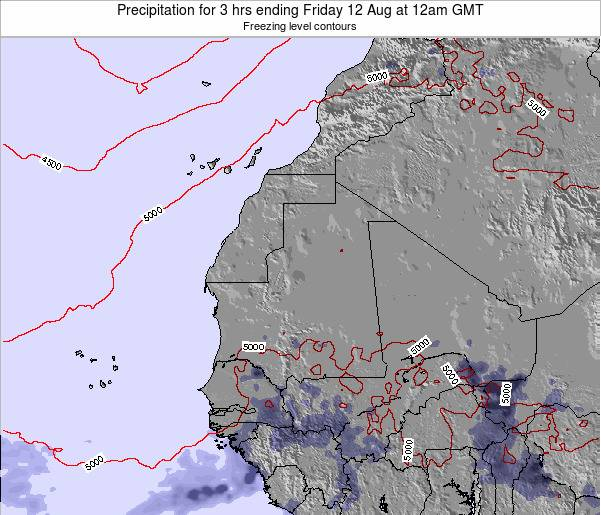 Sierra Leone Precipitation for 3 hrs ending Sunday 26 May at 12pm GMT
