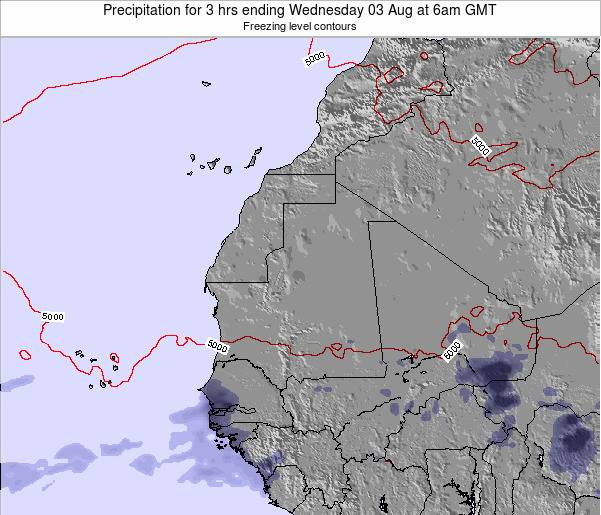 Liberia Precipitation for 3 hrs ending Tuesday 21 May at 12pm GMT