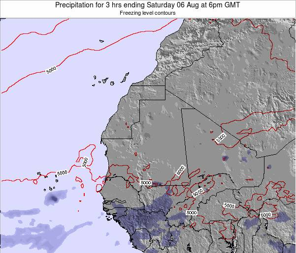 Sierra Leone Precipitation for 3 hrs ending Sunday 26 Oct at 12pm GMT