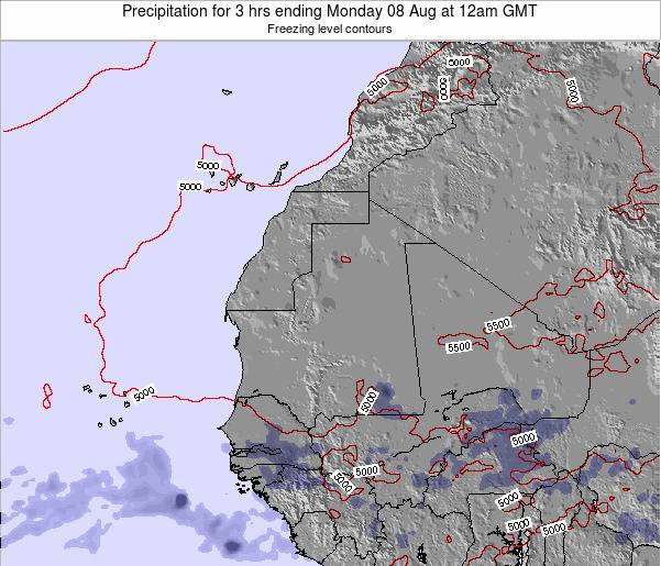 Sierra Leone Precipitation for 3 hrs ending Friday 24 May at 6am GMT