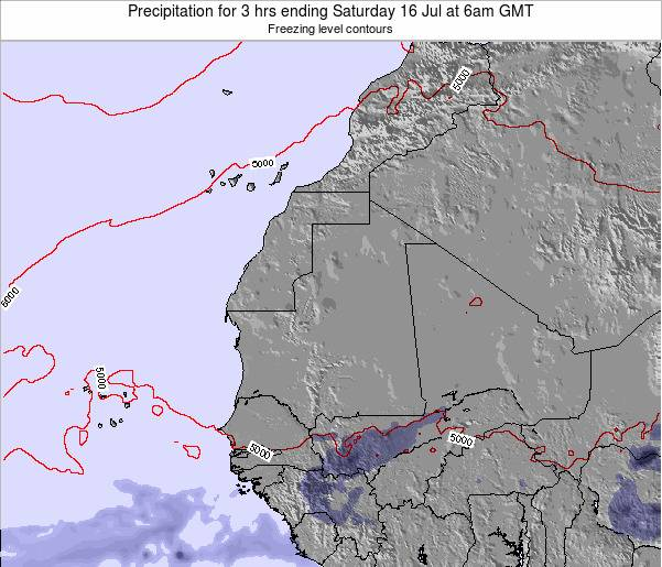 Sierra Leone Precipitation for 3 hrs ending Monday 21 Apr at 12am GMT