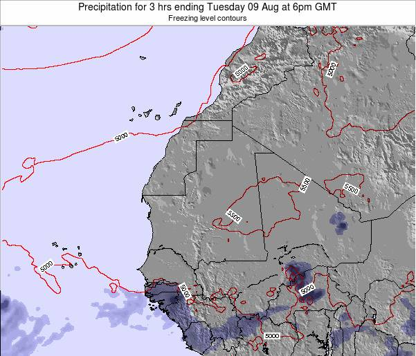 Sierra Leone Precipitation for 3 hrs ending Friday 13 Dec at 6pm GMT