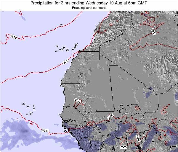 Sierra Leone Precipitation for 3 hrs ending Tuesday 27 Sep at 6pm GMT