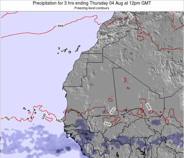 Guinea Precipitation for 3 hrs ending Wednesday 19 Jun at 6pm GMT