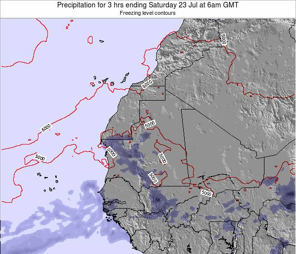 Sierra Leone Precipitation for 3 hrs ending Tuesday 28 May at 12am GMT map