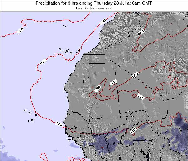 Liberia Precipitation for 3 hrs ending Friday 24 May at 6am GMT
