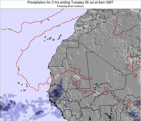 Liberia Precipitation for 3 hrs ending Friday 24 May at 6pm GMT