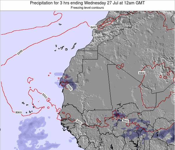 Sierra Leone Precipitation for 3 hrs ending Thursday 23 May at 12pm GMT