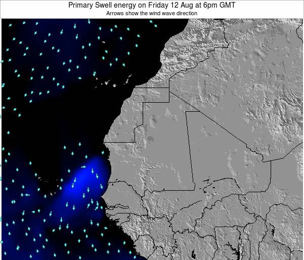 Liberia Primary Swell energy on Friday 14 Mar at 6am GMT