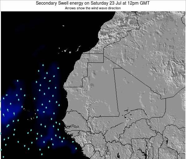 Mauritania Secondary Swell energy on Wednesday 24 Sep at 6pm GMT