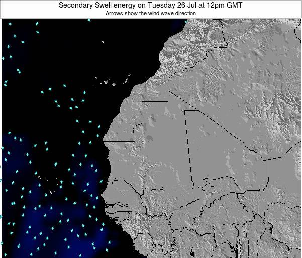 Mauritania Secondary Swell energy on Saturday 22 Jun at 6am GMT