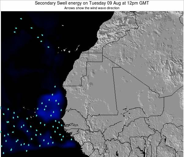 Mauritania Secondary Swell energy on Sunday 23 Jun at 6am GMT