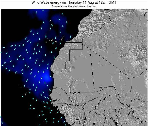 Sierra Leone Wind Wave energy on Saturday 14 Dec at 6am GMT