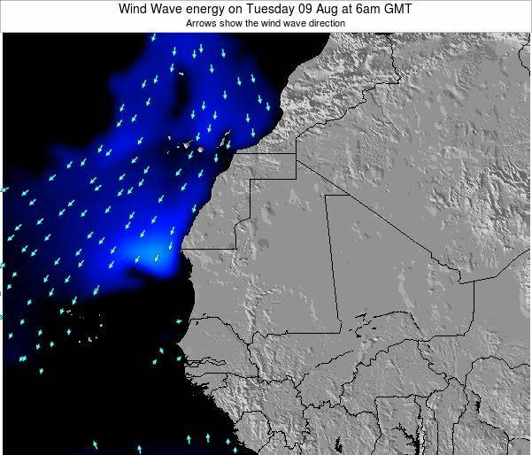 Sierra Leone Wind Wave energy on Saturday 02 Aug at 6am GMT