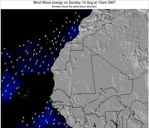 Sierra Leone Wind Wave energy on Saturday 15 Mar at 12am GMT