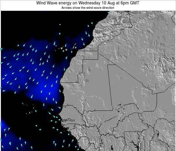 Sierra Leone Wind Wave energy on Saturday 23 Jun at 6am GMT map