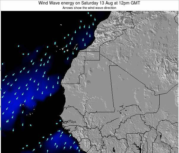 Sierra Leone Wind Wave energy on Monday 25 Jun at 12am GMT map