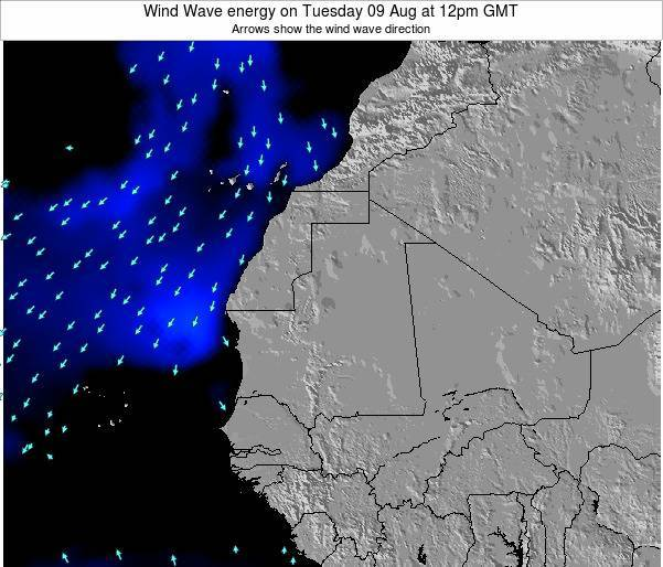 Sierra Leone Wind Wave energy on Wednesday 25 Jan at 12pm GMT