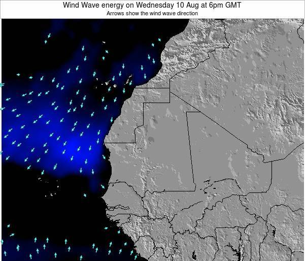 Sierra Leone Wind Wave energy on Wednesday 17 Oct at 6pm GMT map