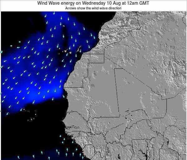 Sierra Leone Wind Wave energy on Wednesday 12 Mar at 12am GMT
