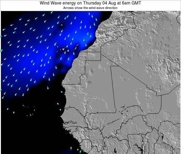 Sierra Leone Wind Wave energy on Wednesday 30 Apr at 12am GMT