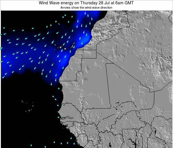 Sierra Leone Wind Wave energy on Sunday 26 Oct at 6am GMT