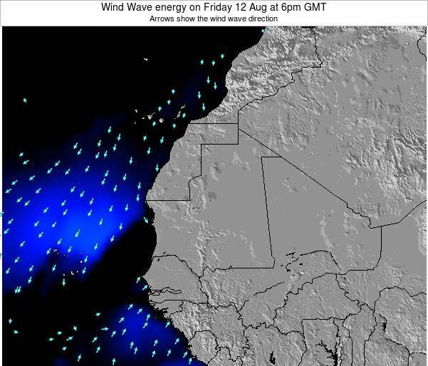 Sierra Leone Wind Wave energy on Monday 01 Dec at 12am GMT