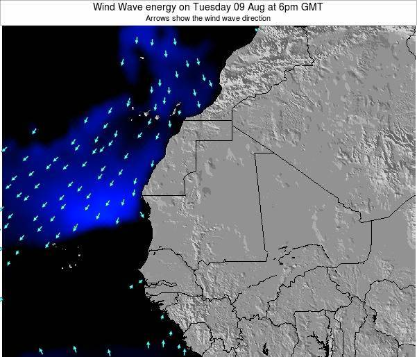 Sierra Leone Wind Wave energy on Monday 06 Apr at 12pm GMT