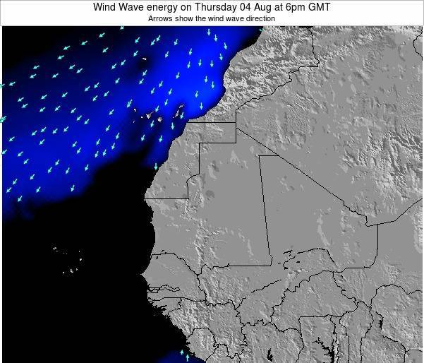 Sierra Leone Wind Wave energy on Wednesday 30 Jul at 6pm GMT