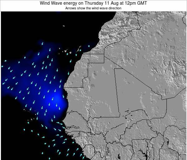 Sierra Leone Wind Wave energy on Tuesday 05 Aug at 12am GMT