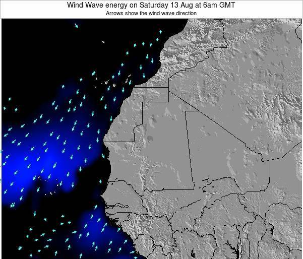 Sierra Leone Wind Wave energy on Friday 05 Aug at 6am GMT